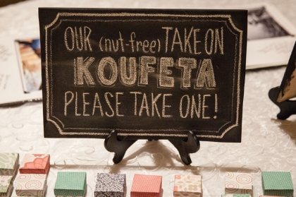 "One of our ""favors."" More on the Koufeta in a future post!"